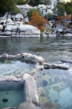 hot springs, Kern River - Makes me miss Kernville so much. My favorite spring is the one on the far right side. You can jump from the hot spring into the river. Feels so amazing.