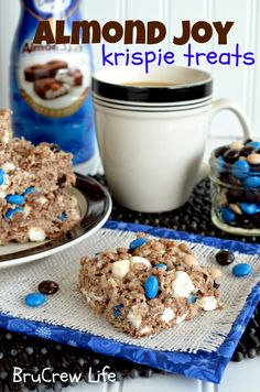Almond Joy Rice Krispie Treats (I wouldn't use the coffee but it's a good recipe to start from...)