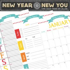 Get organized in 2014 with the help of these FREE PRINTABLE PLANNERS! | One Good Thing By Jillee