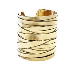 Citrine By The Stones Large Wire Cuff in Gold