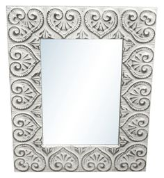 Heart 4.5 in. tin framed mirror by oldegoodthings on Etsy