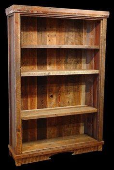 Custom Made Reclaimed Barn Wood Bookcase
