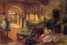 Orientalist Interior (Frederick Arthur Bridgman - )