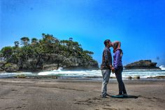 Be romantic in a beautiful place.  Citumang - Pangandaran. Indonesia