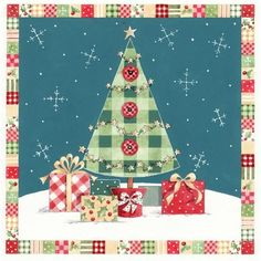 Xmas gifts and tree Christmas Cards To Make, Noel Christmas, Christmas Clipart, Christmas Gift Wrapping, Christmas Crafts For Kids, Christmas Printables, Christmas Decorations, Xmas Gifts, Illustration Noel