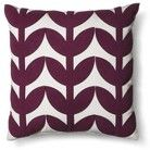 "Room Essentials® Botanical Toss Pillow Purple ""18x18"""