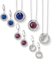 "Alluring Gift Set - Faux cat's-eye stones set in silvertone with rhinestones. Necklace, 16 1/2"" L with 3 1/2"" extender. Pierced earrings, 1"" L. Regularly $19.99, buy Avon Jewelry online at http://eseagren.avonrepresentative.com"