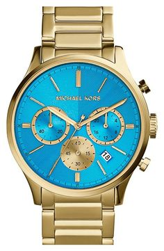 Gorgeous blue and gold watch | Michael Kors