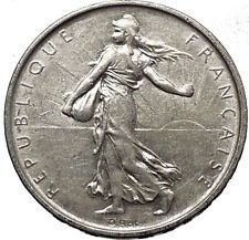 1963 France 5 Francs OLD Silver SOWER La Semeuse French Coin Branch i56593