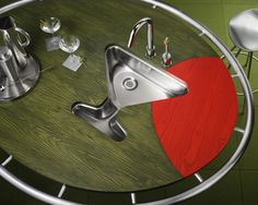 This martini sink by @Elkay Sinks and Faucets will be the talk at your party.. maybe the town!