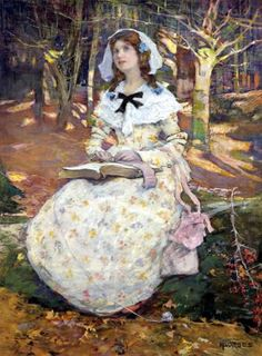 The Open Book.Elizabeth Adela Stanhope Forbes (1859–1912). Watercolour with bodycolour over pencil.
