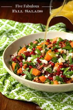 Five Fabulous Fall Salads - these are our favorite healthy and super delicious recipes for the autumn season.
