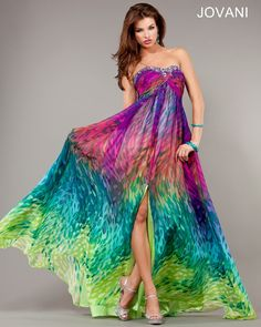 Rainbow butterfly strapless