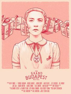 "Agatha - Grand Budapest Hotel on Behance - ""Agatha"" poster created for Spoke Art's Bad Dads - art show tribute to the films of Wes Anderson, San Francisco, November 2014. by Bartosz Kosowski"