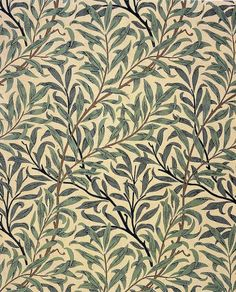 'Willow bough' wallpaper design by William morris, produced in 1887 __ posted on… William Morris Wallpaper, William Morris Art, Morris Wallpapers, Art Nouveau, Art Deco, Patterns In Nature, Textures Patterns, Print Patterns, Nature Pattern