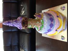 Repunzel theme Cake