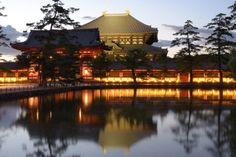 Todaiji, the world's largest wooden building and a UNESCO World Heritage Site in Nara, Japan.