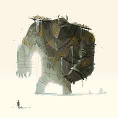 This makes my want to play Shadow of the Colossus! The Art Of Animation, Kevin Dart Vampires, Character Illustration, Illustration Art, Zombies, Kevin Dart, Shadow Of The Colossus, Character Design Animation, 3d Character, Art Background