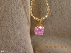 Beautiful Pink Ice Necklace Handmade locally in the U.S.A.