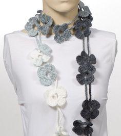 Shades of Black Scarf Crochet Scarf Crochet belt by CROCHETTT