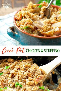 Crockpot Chicken and Stuffing is an easy dinner recipe that's total comfort food! With carrots, broccoli, chicken and stuffing all cooked in a creamy sauce, it's a true one pot meal. Slow Cooker Chicken and Stuffing | Slow Cooker Chicken Recipes | Crock Pot Chicken Recipes Crockpot Dishes, Crock Pot Slow Cooker, Crock Pot Cooking, Slow Cooker Chicken, Slow Cooker Recipes, Crockpot Recipes, Cooking Recipes, Chicken Recipes, Fast Recipes