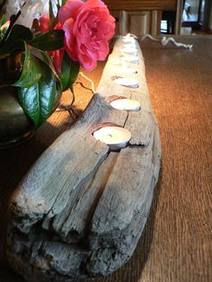 Driftwood, Large center piece, wedding decor, rustic candle holder, Driftwood candle holder, Cabin decor, Rustic Cabin decor on Etsy, $46.00