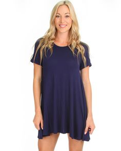 Reporting For Cutie T-Shirt Dress In Navy
