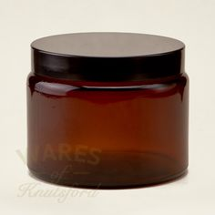 Wares of Knutsford Ltd - 500ml Amber Glass Cosmetic Jar, £19.80 (https://www.waresofknutsford.co.uk/500ml-amber-glass-cosmetic-jar/)