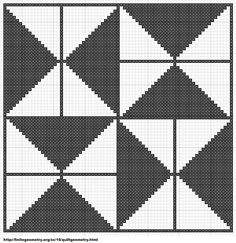 Free Cross Stitch Geometric Pattern 11 by ~carand88 on deviantART