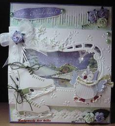 Dikkie van der Horst  http://rozet44.blogspot.nl/  Creatables: LR0135, LR0161, LR0206, LR0247. Designables: DS0908. Knipvel:Winter Wonderland IT 560, Christmas Owls AK0055.