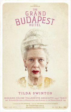 Tilda Swinton as Madame Celine Villeneuve Desgoffe und Taxis ~ Dowager Duchess of Pfeiffelstad and Consort to the Grand Duke K. #thegrandbudapesthotel