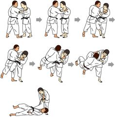 Illustrated introduction to the Judo fundamentals: the Waza Best Martial Arts, Martial Arts Styles, Martial Arts Techniques, Martial Arts Workout, Art Techniques, Boxing Workout, Aikido, Jiu Jitsu, Judo Throws