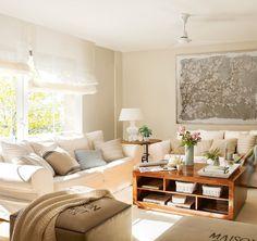 Jurnal de design interior - Amenajări interioare : Tonuri neutre într-un apartament de 60 m²