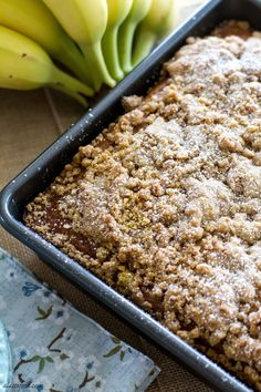 {Skinny} Honey Banana Coffee Cake: This coffee cake has no oil or butter in it, but packed with tons of honey and banana flavor! Eat cake for breakfast.  | www.alattefood.com