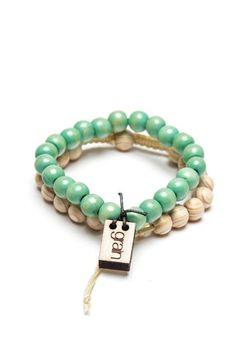 Grain Wood Beaded Bracelets