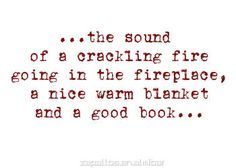 ♡ a crackling fire♡ a warm blanket♡ a good book