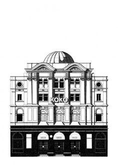 """KOKO club london"" Giclee print sur papier Hahnemuhle Albrecht Durer 210gr 42 x 59 cm (A2) - Signé"