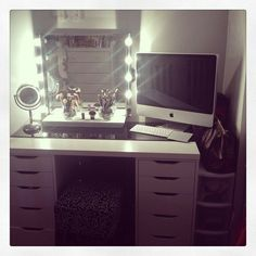 Something like this for my makeup vanity and place where I can do my homework for school