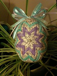 Quilted  Fabric Easter Egg by QuiltersPantry on Etsy, $32.00