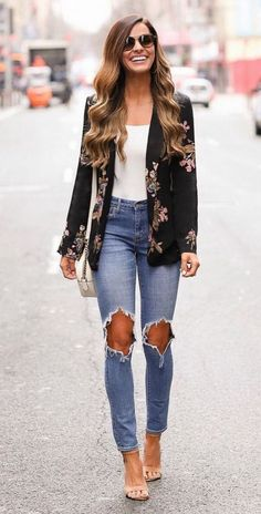 50 Best Street Style Outfits This Year - Fashion Design Fashion Mode, Look Fashion, Autumn Fashion, Fashion Outfits, Womens Fashion, Fashion Trends, Spring Fashion, Fashion 2018, Fashion Ideas