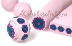 Great tutorial of Cane to bead #polymer #clay
