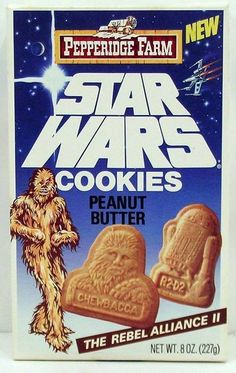 Star Wars Cookies......... I Remember these, and the C 3PO cereal... I remember both being good... I wonder.....
