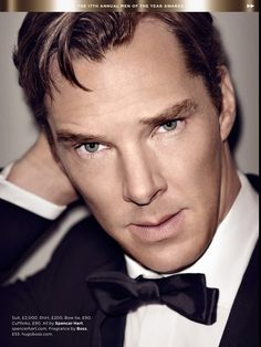 His face...speechless. {Benedict Cumberbatch in British GQ magazine - Actor of the year}