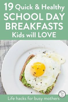 I am fanatical about sending my daughter to school with a healthy breakfast in her tummy. Here's a cheat sheet on quick, healthy, school day breakfasts. Healthy Bedtime Snacks, Quick Healthy Breakfast, Healthy Family Meals, Best Breakfast, Kids Meals, Healthy Snacks, Breakfast Recipes, School Breakfast, Healthy Recipes