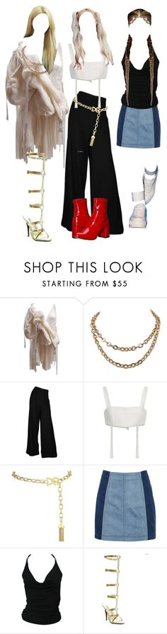 """""""Untitled #7795"""" by dimplestae ❤ liked on Polyvore featuring Georgine, Dolce&Gabbana, Free People, Roberto Cavalli and Steve Madden"""