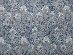 "LIBERTY OF LONDON TANA LAWN FABRIC ""Hera D"" 3.3 METRES BLUE"