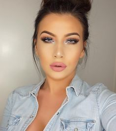"""Lenses: @desioeyes Innocent white  Lips: @hm velvet lip cream 'Enchante' mixed with @gerardcosmetics matte lipstick 'Aphrodite' - Jelena Peric"