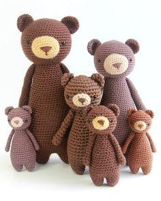 Bear crochet patterns by Little Bear Crochets: www.littlebearcrochets.com ❤️ #littlebearcrochets #amigurumi