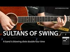 How To Play Sultans of Swing on guitar tutorial (easy lesson chords) Guitar Chord Chart, Guitar Tabs, Music Guitar, Guitar Chords, Ukulele, Jazz Guitar Lessons, Electric Guitar Lessons, Acoustic Guitar Notes, Guitar Songs For Beginners