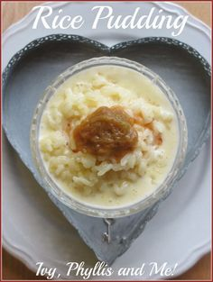 Ivy, Phyllis and Me!: RICE PUDDING Full Fat Milk, Ivy, Mashed Potatoes, Oatmeal, Roast, Pudding, Breakfast, Ethnic Recipes, Friday